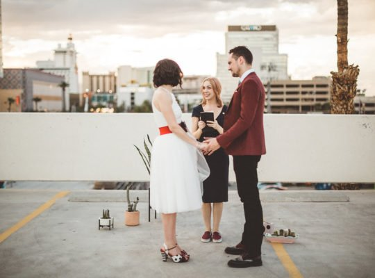 Downtown Las Vegas Rooftop Elopement