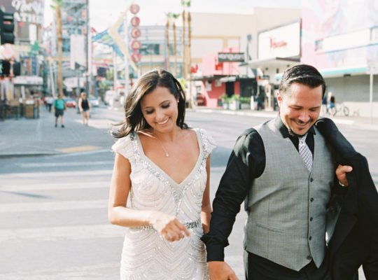 Flora Pop Elopement in Las Vegas near Joshua Trees