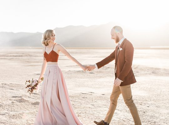 Elopement in Las Vegas at the Dry Lake Bed with Flora Pop